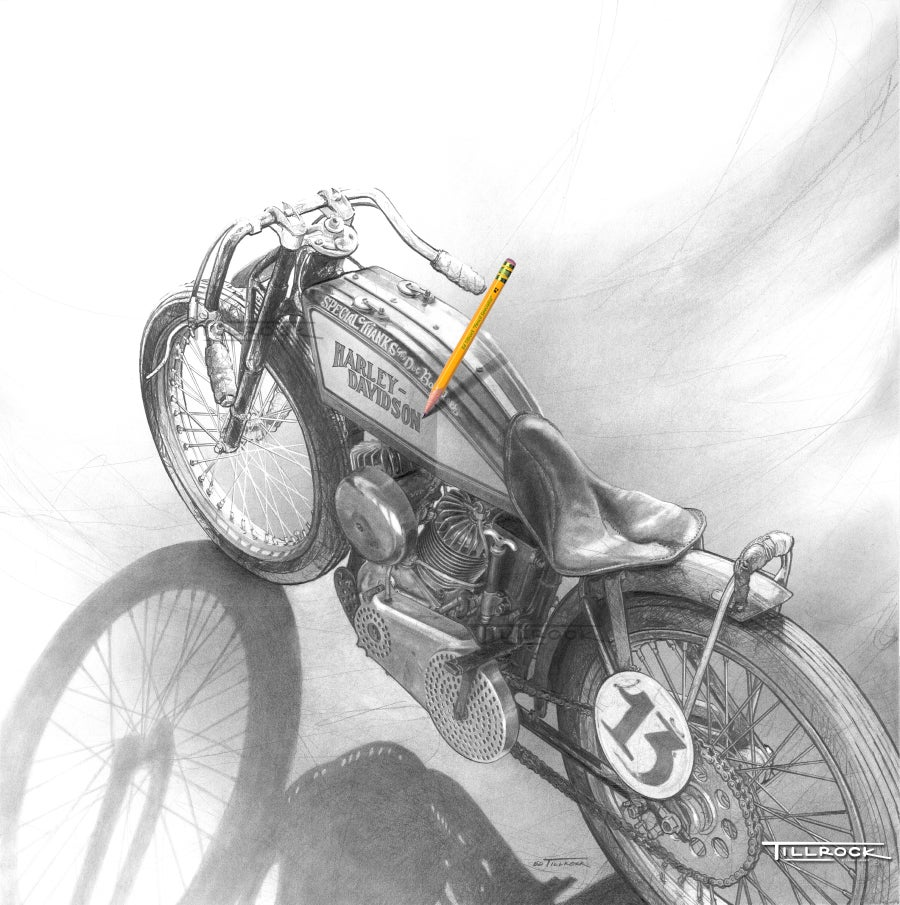 "Image of ""Brittney's '23 Board Track Racer"" Signed & Numbered 24x24 Giclee' Print"