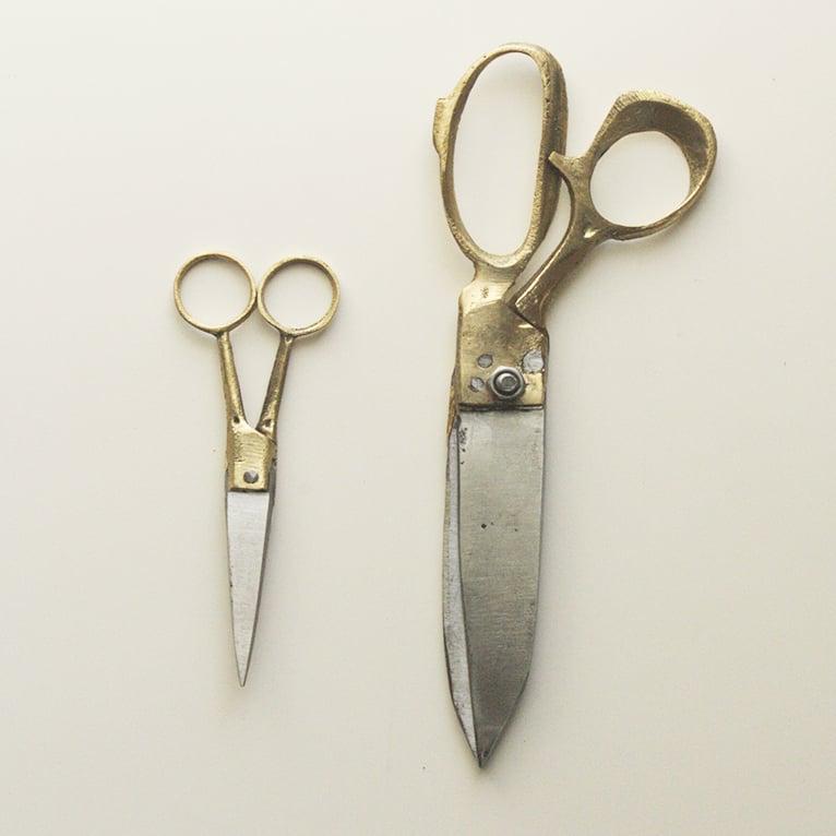 Image of Brass & Steel Scissors