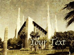 Image of Las Vegas LDS Mormon Temple Art 004 - Personalized LDS Temple Art