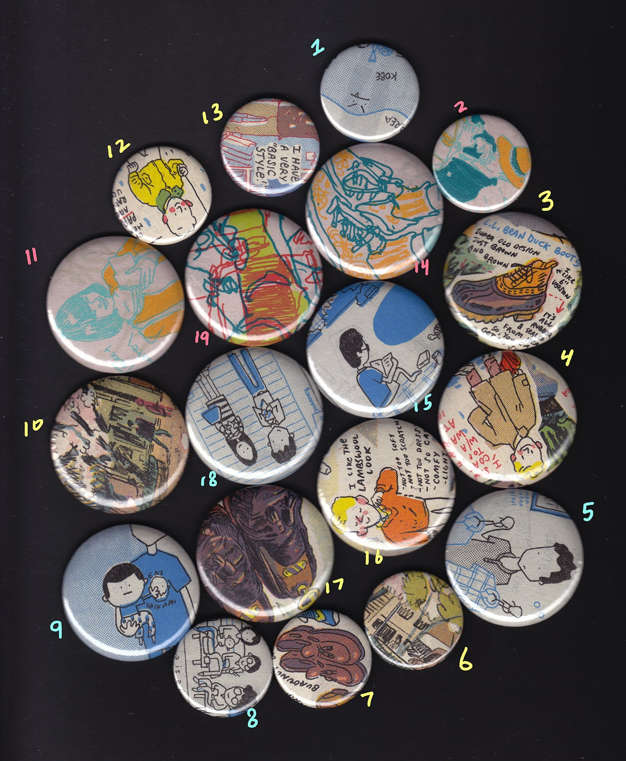 Style and Fashion Zine Pins