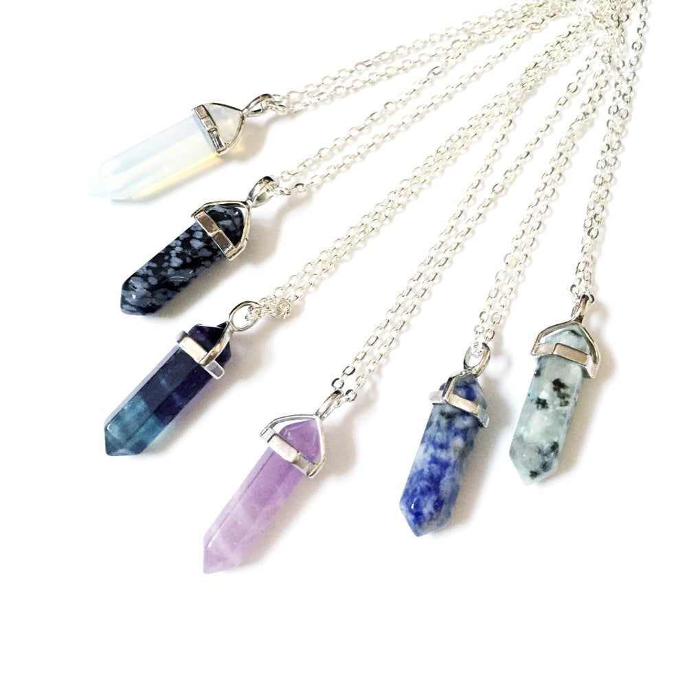 Image of Crystal Point Necklaces