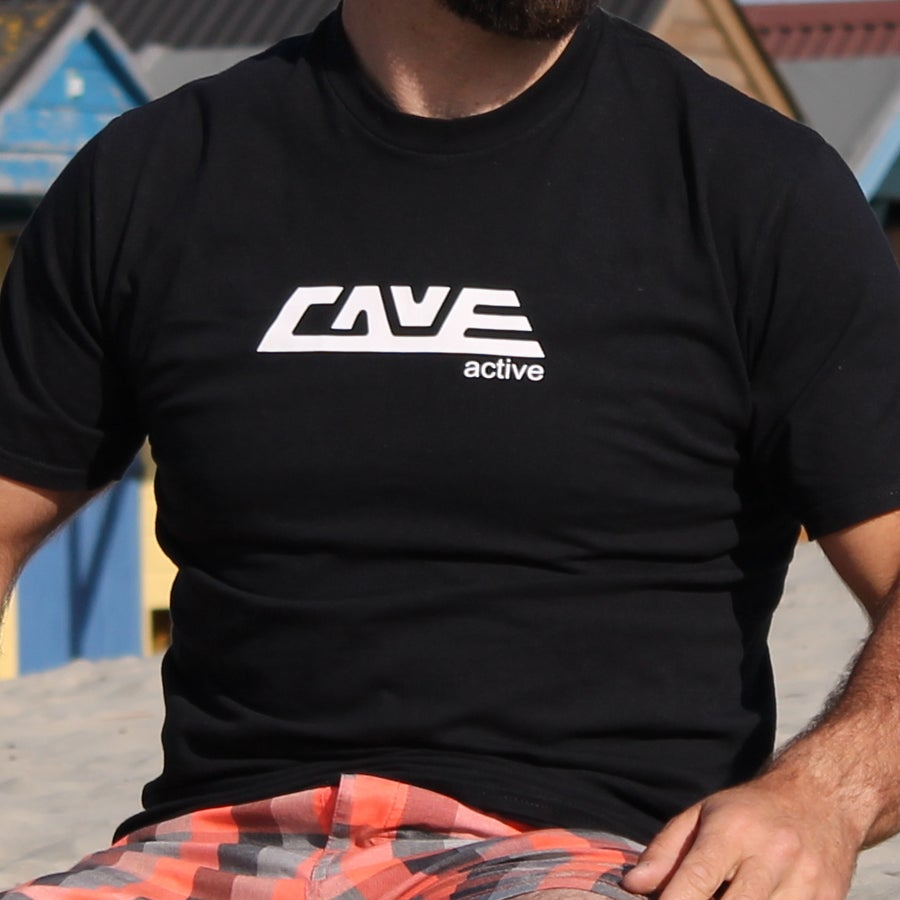 Image of Cave Active Logo Tee (Black)