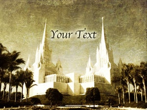Image of San Diego LDS Mormon Temple Art 002-Personalized LDS Temple Art