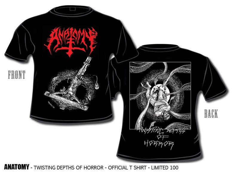 Image of ANATOMY TWISTING DEPTHS OF HORROR - OFFICIAL T SHIRT