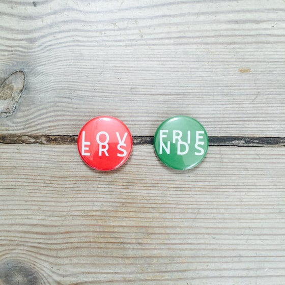 Image of LOVERS FRIENDS Button Set
