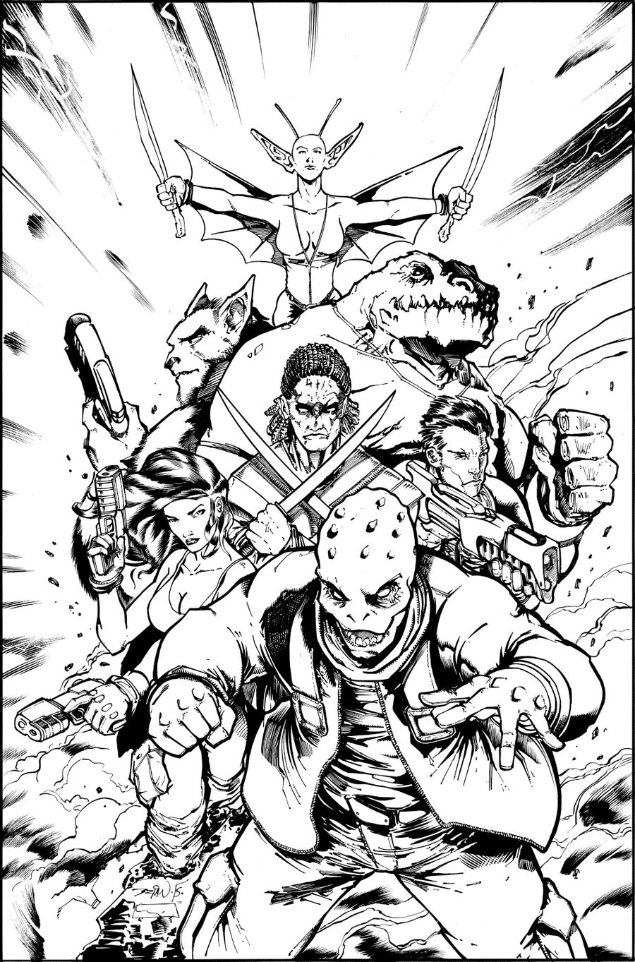 Image of Original Art - STARBURN Issue 03 COVER