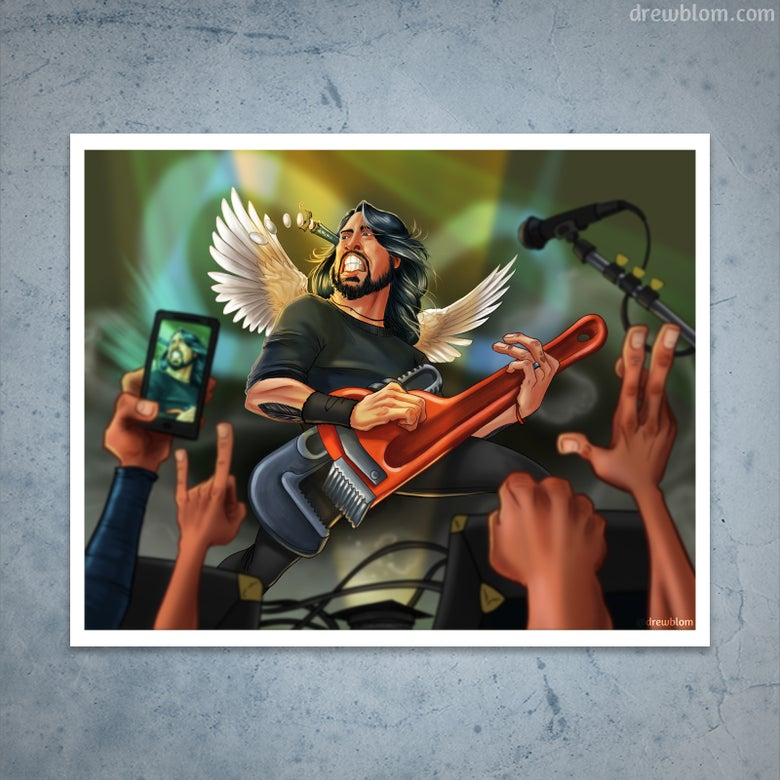 Image of Dave Grohl - Caricature
