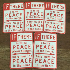 Image of Peace Sign Sticker Set (5)