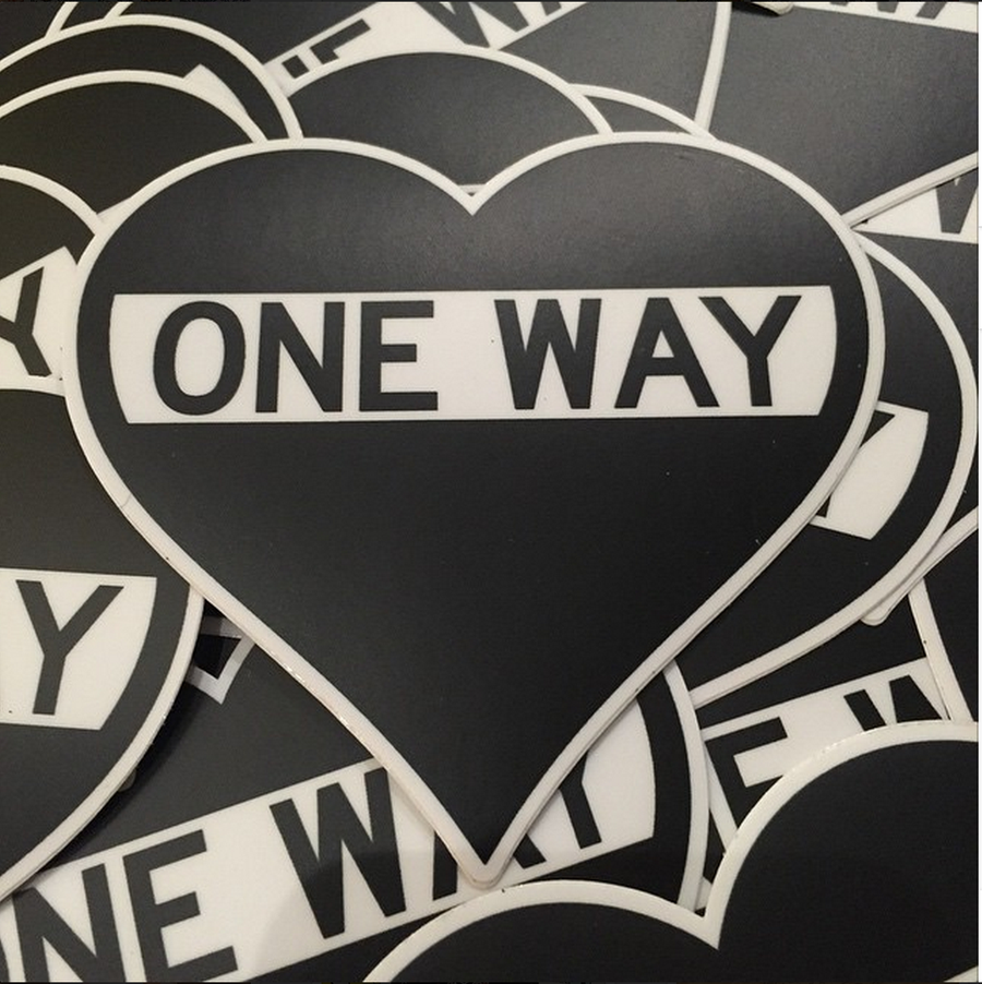 Image of One Way Heart Sticker