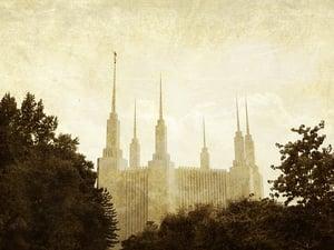 Image of Washington DC Maryland LDS Mormon Temple Art 002 - Personalized LDS Temple Art