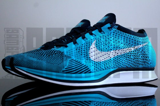 "Image of Nike FLYKNIT RACER ""CHLORINE BLUE"""