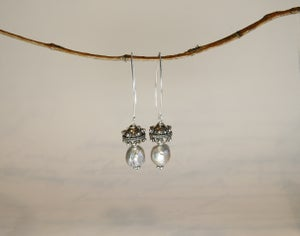 Image of Grey Baroque Earrings