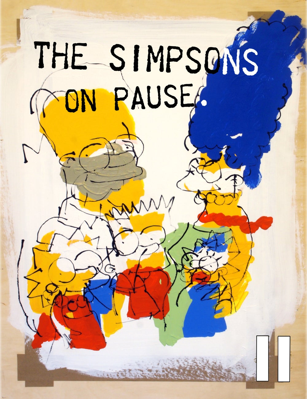 Image of The Simpsons on Pause. (Zine)