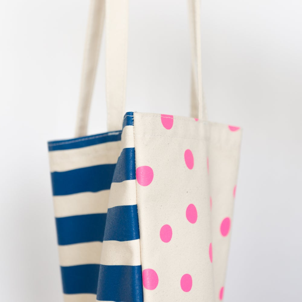 Stripes & Polka Dots Tote Bag