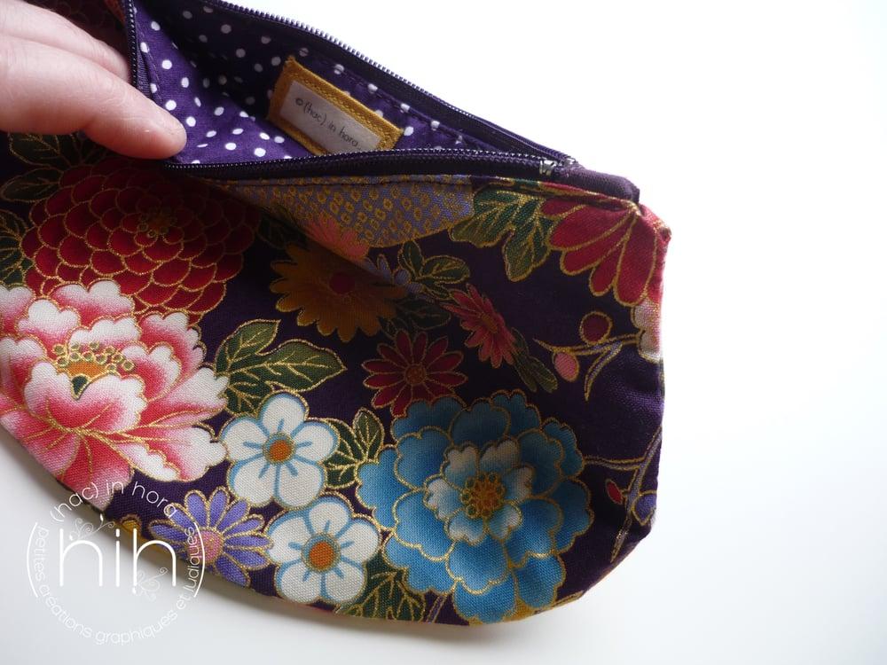 Image of pochette luna / les fleurs japonaises
