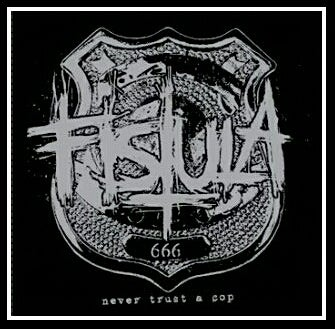 "Image of Fistula: Never Trust A Cop 7"" Limited Edition Grey 75 copies    (Sold Out)"