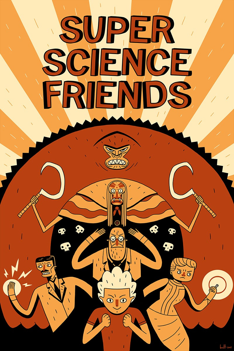 Image of Super Science Friends Poster
