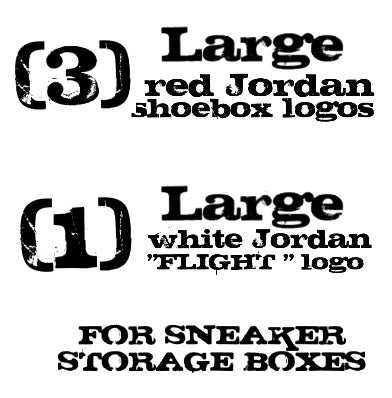 Image Of 4 LARGE Jordan Logos For Custom Flight Sneaker