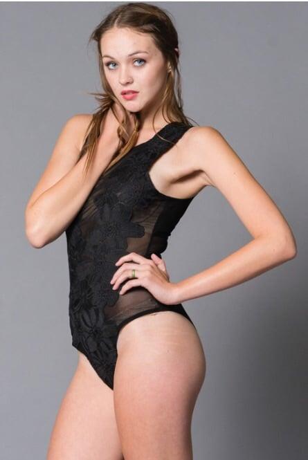 Image of Mesh Floral Bodysuit
