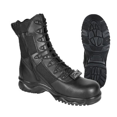 "Image of 8"" Tactical Boot With Side Zipper & Composite Toe ~ Men's Sizes"