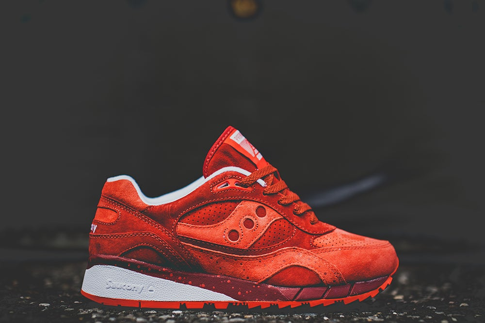 "Image of SAUCONY SHADOW 6000 X PREMIER ""LIFE ON MARS"" ALL RED 70148-2"
