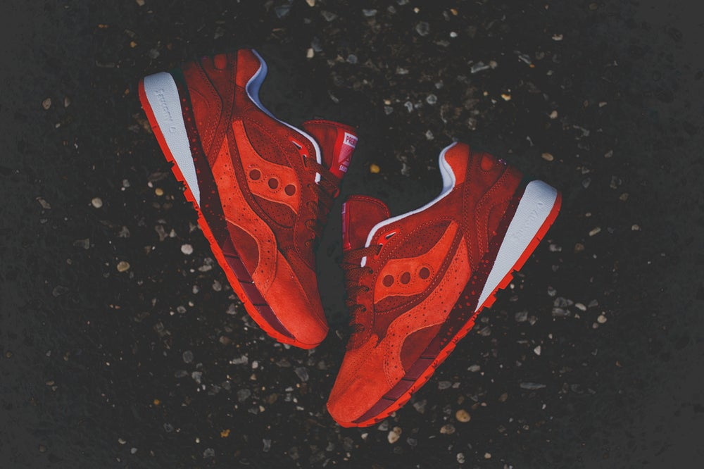 """Image of SAUCONY SHADOW 6000 X PREMIER """"LIFE ON MARS"""" ALL RED 70148-2"""