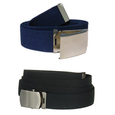 "Image of Canvas Web Belt - Black or Navy Blue, 44"" & 54"""