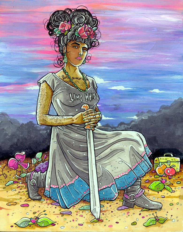 Image of NEXT WORLD TAROT: Queen Of Swords