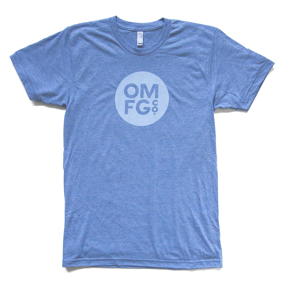 Image of Light Blue Dot Logo Tee