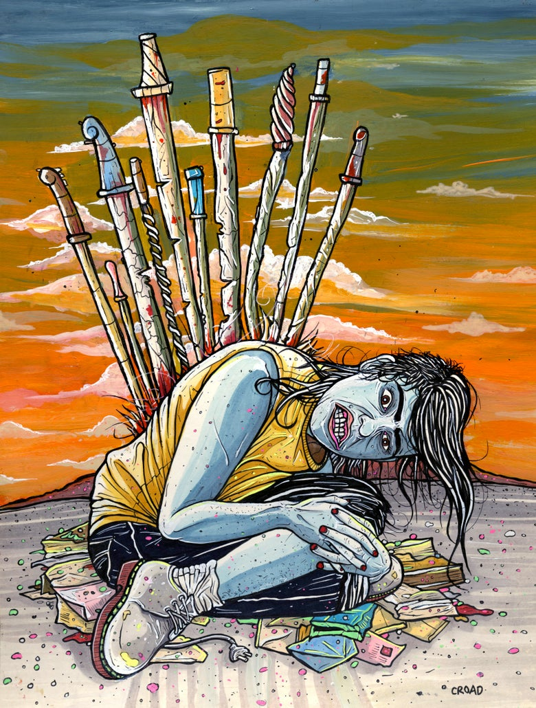Image of NEXT WORLD TAROT: 10 of Swords