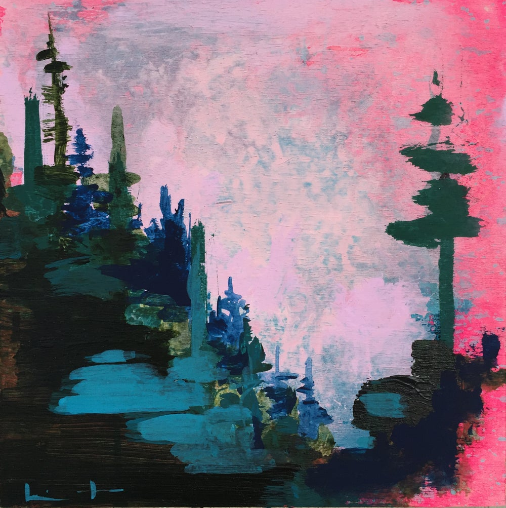 Image of Tiny Painting No. 11 (lavender, teal, china blue)