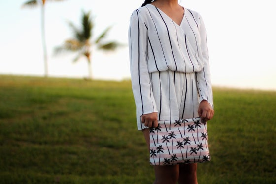 Image of Striped Palm Clutch