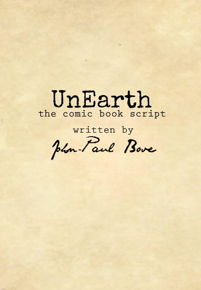 Image of UnEarth Script book