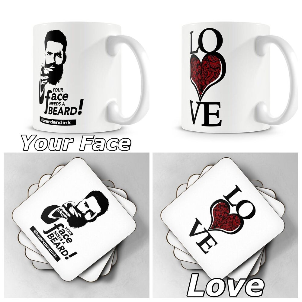 Image of Beard and Ink Mug(s) and coaster(s) set