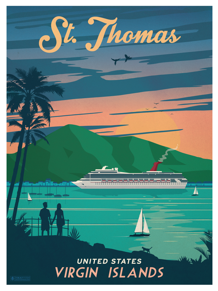Image of Vintage St. Thomas Print