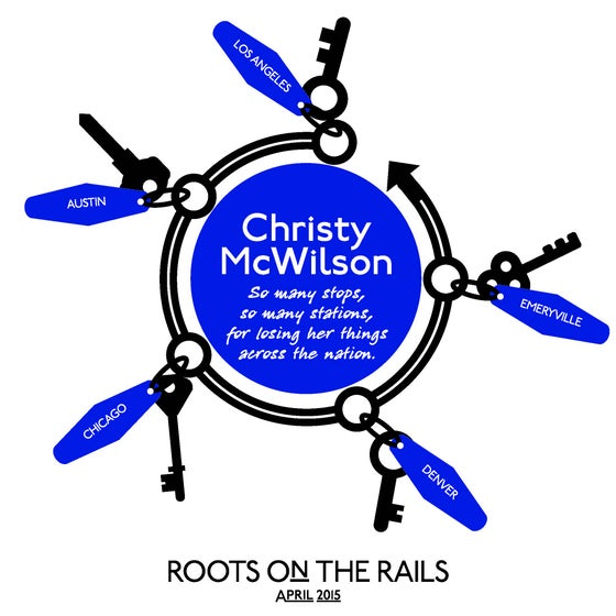 Image of Christy McWilson Roots on the Rails tote bag