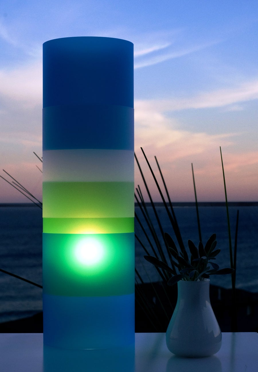 Image of The Gobstopper Lamp - Blueberry/Lime