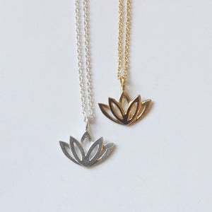 Image of Lotus love necklace