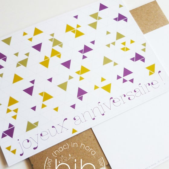 "Image of  lot carte▲triangolini▲ ""Joyeux Anniversaire"""