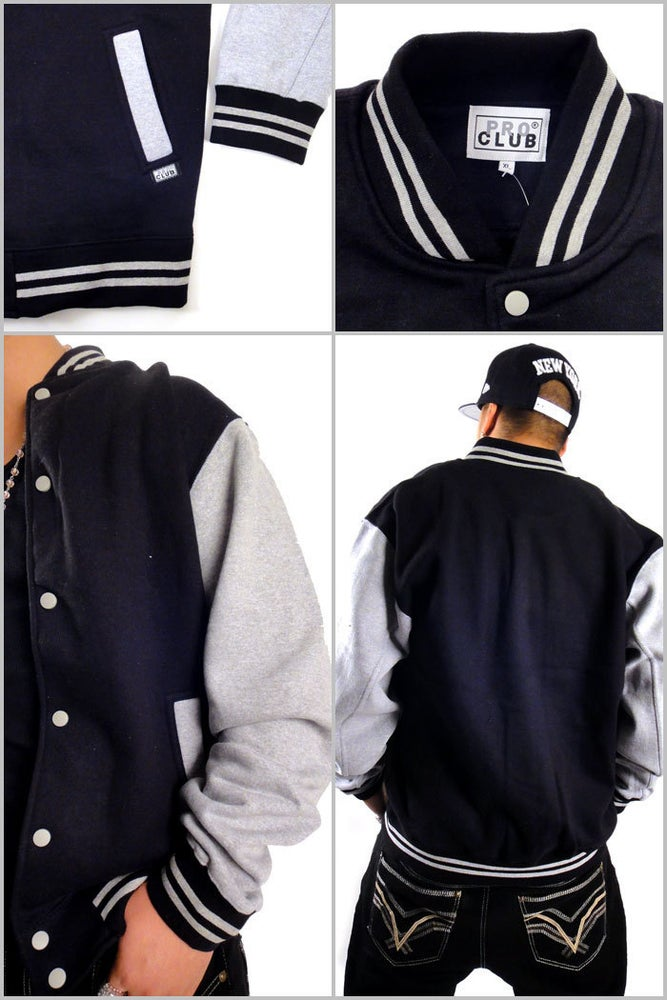 Image of Pro Club Varsity Heavyweight Baseball Jacket