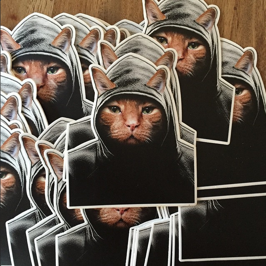 Image of Hood Kitty Sticker