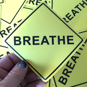 Image of Breathe Sticker