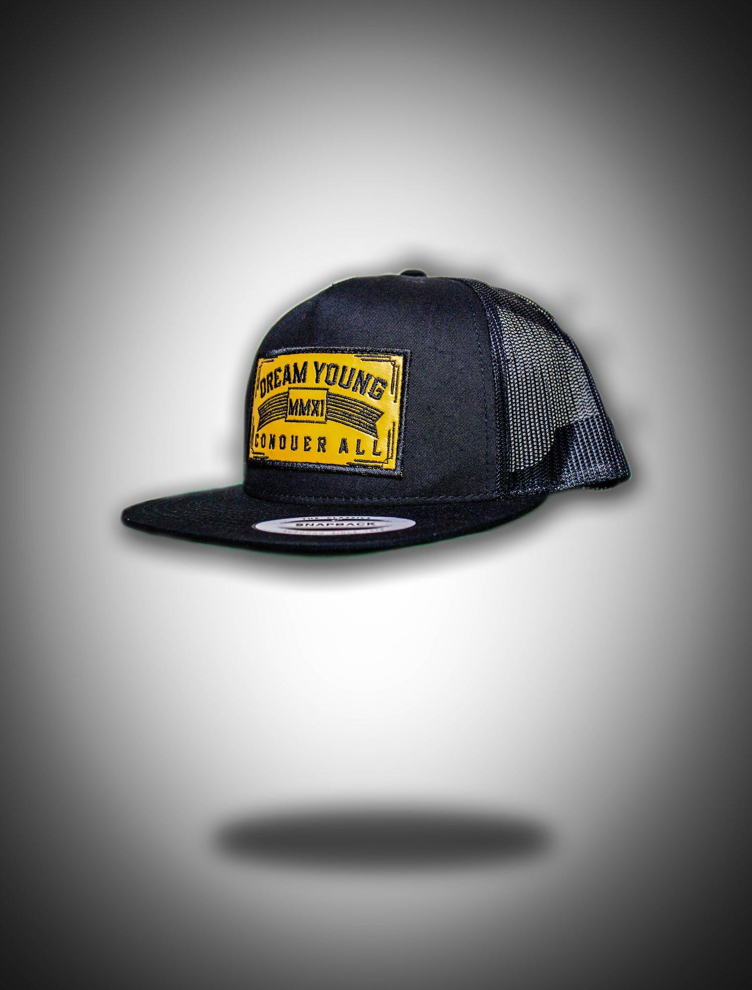 Image of Black Trucker Patch Snapback