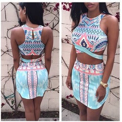 Image of SYNS AZTEC TOP & SKIRT