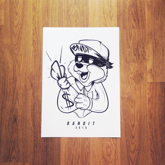 Image of BANDIT A2 PRINT - Limited Prints