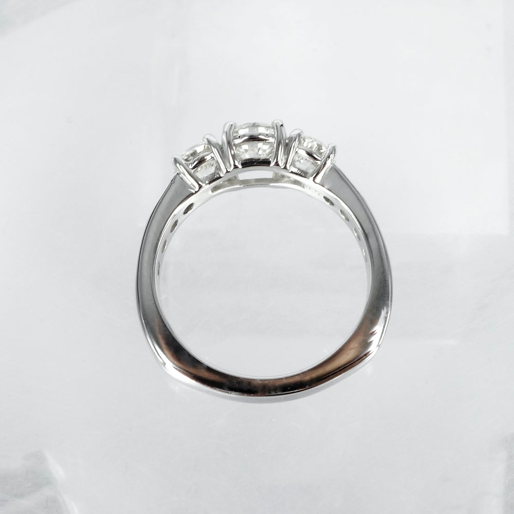 Image of Three stone diamond engagement ring