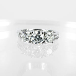 Image of Three stone diamond engagement ring