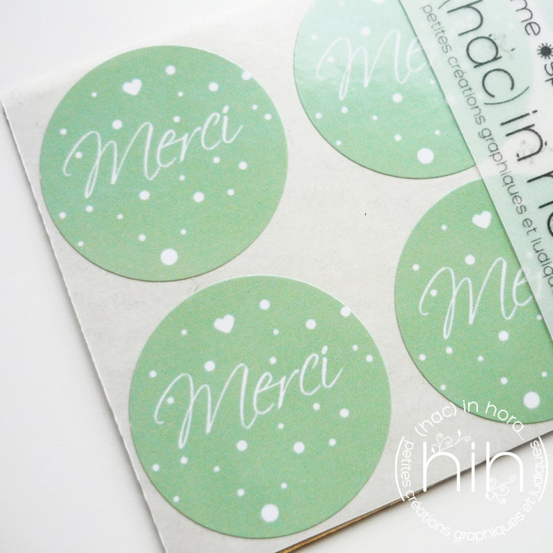 Image of stickers ☀spring☀ merci / 4 coloris