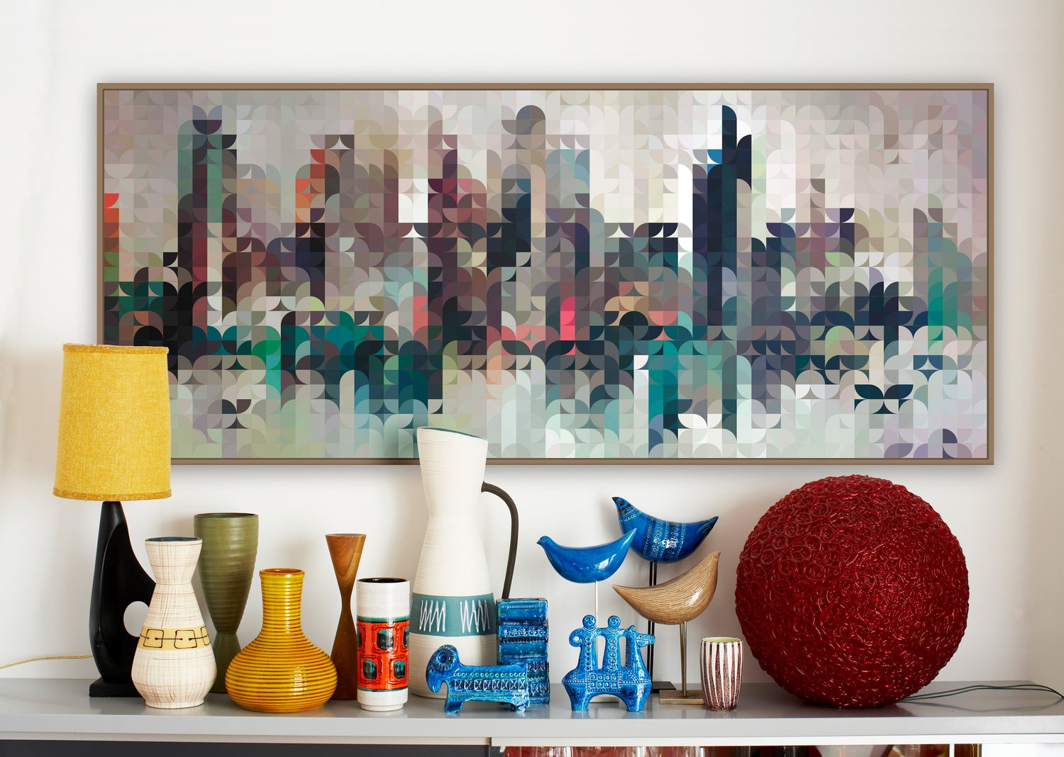 Image of Squint Prints Abstract Cityscape -1