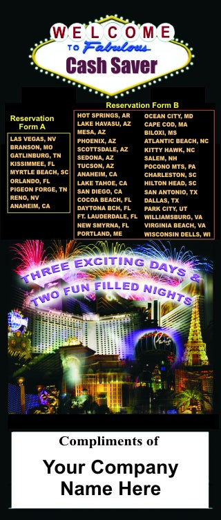 Image of 3 Days & 2 Nights Vacation Certificates (Starting @ .59 & Less Each.)